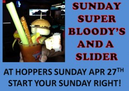 Sunday Super Bloody's and a Slider