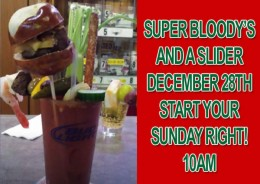 December Bloodys and a Slider
