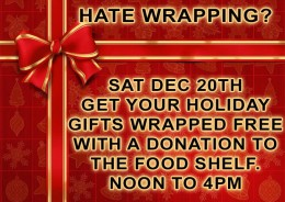 Get your presents wrapped at Hoppers