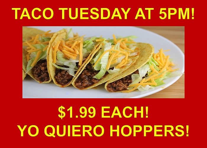Taco Tuesday at Hoppers