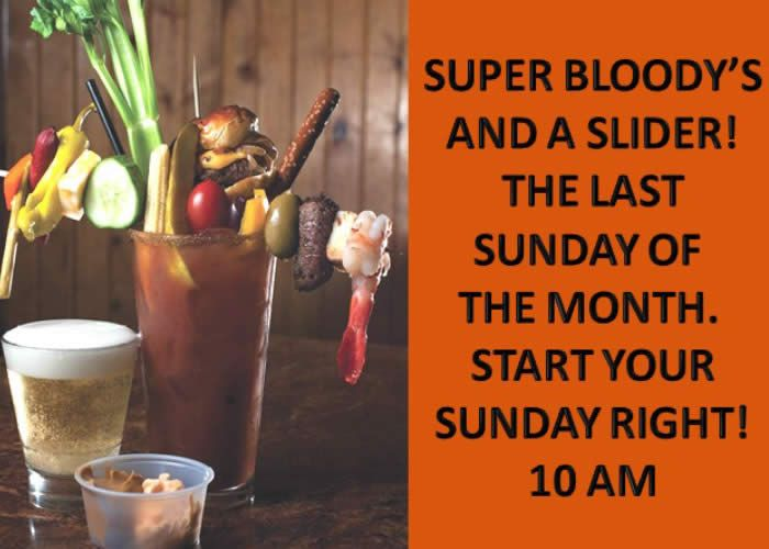 Super Bloody's and a Slider at Hoppers Bar