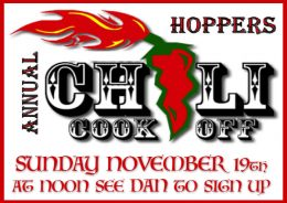 Hoppers Annual Chili Cook-Off