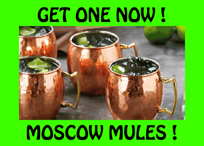 Moscow Mules at Hoppers Bar
