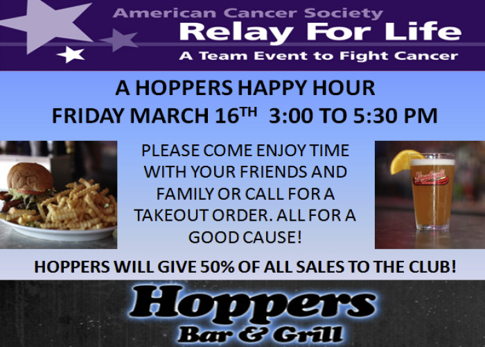 Relay For Life Happy Hour