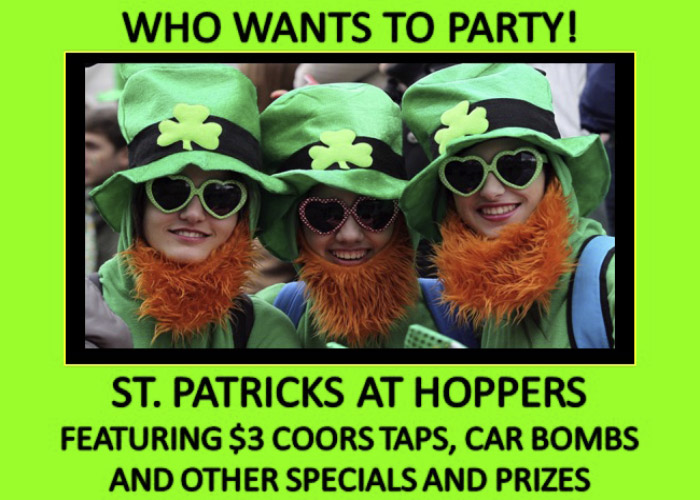 St. Patricks At Hoppers 2018