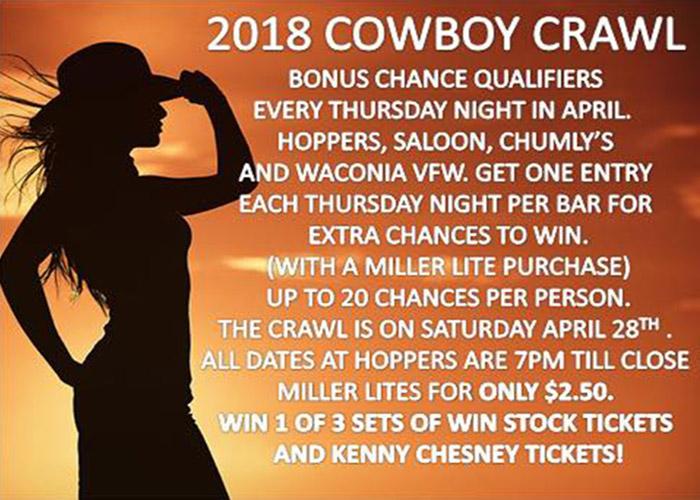 2018 Cowboy Crawl at Hoppers