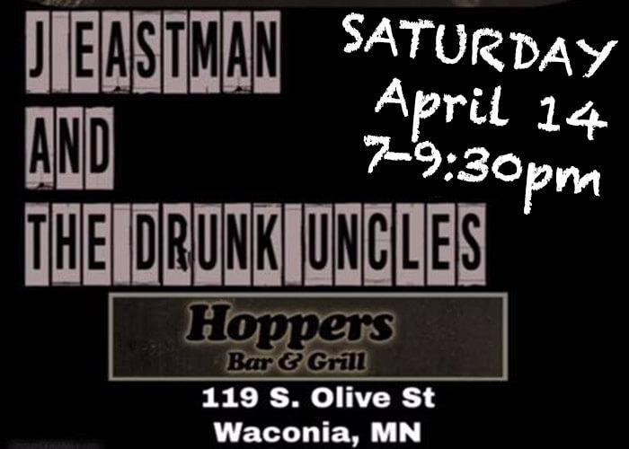 Drunken Uncles at Hoppers Bar in April