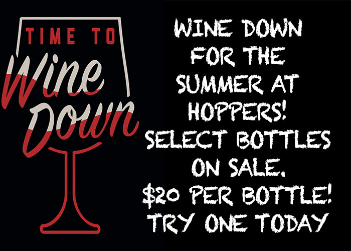 Wine Specials At Hoppers Bar